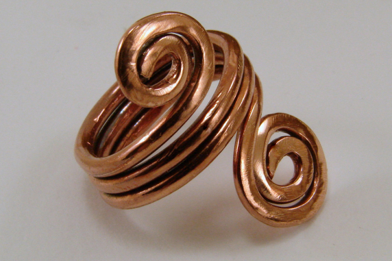 Copper Spiral Ring - Any Size