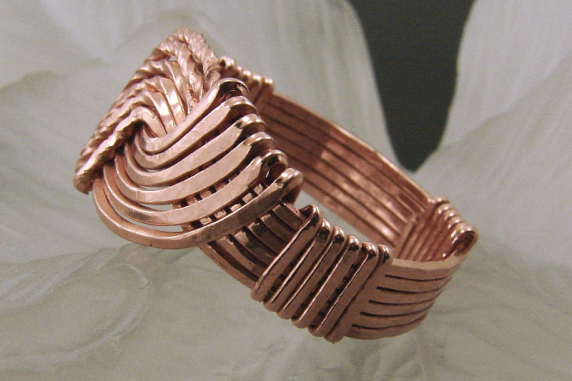 Copper Wire Wrapped Hug Ring - Any Size
