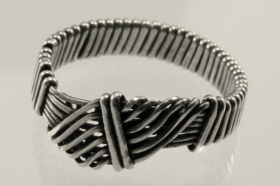Sterling Silver Wire Wrapped Wave Ring (Customizable)