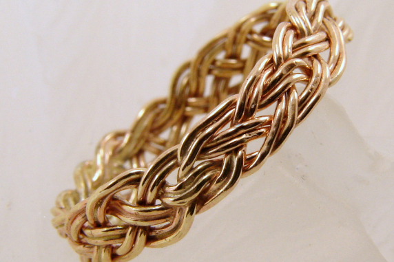 Hand-woven Gold-filled Ring