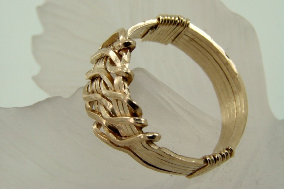 Gold-filled Wire wrapped Wave Ring-Any Size
