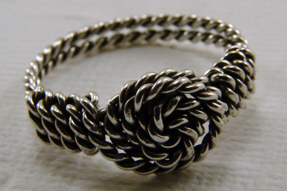 Sterling Silver Twisted Wire Wrapped Ring - any size