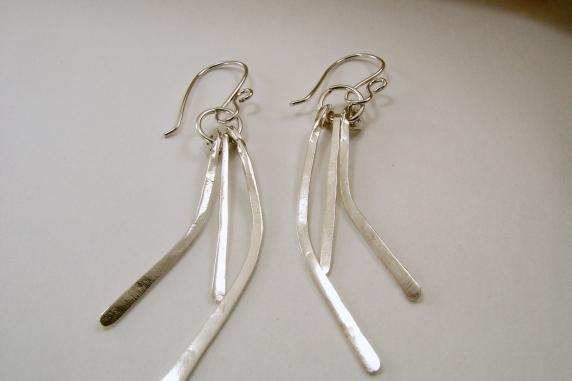 Sterling Silver Strand Earrings