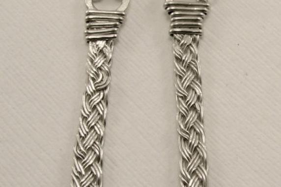 Sterling Silver Handwoven Earrings