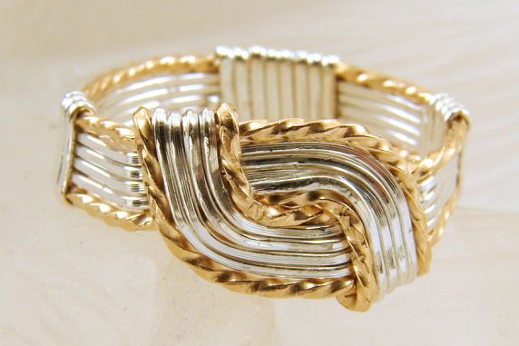 Gold filled and Sterling Silver Hug Ring - Any Size