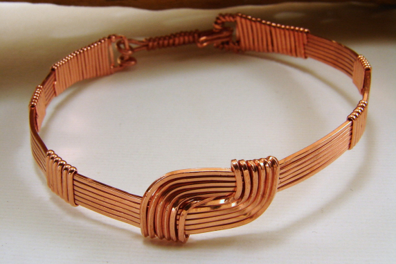 Copper Wire Wrapped Hug Bracelet - Made to Order - Various Sizes Available