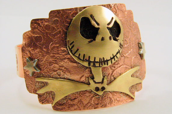 Jack Skellington Mixed Metals Cuff