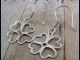 Sterling Silver Four Leaf Clover Earrings