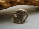 Gun Metal Woman Button Ring Wire Wrapped - Any Size