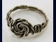 Twisted Sterling Silver Rosette Ring - Any size