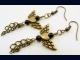 Antique Brass Angel Wing Earrings