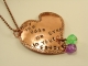 Copper May The Odds Be Ever In Your Favor Heart Pendant with Dice and Chain