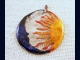 Sun Moon and Stars Pendant Necklace, Celestial Jewelry