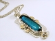 Dichroic Glass set in Sterling silver Pendant