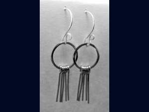 Sterling Silver Short Strands Earrings