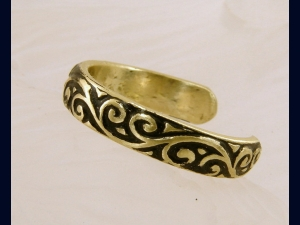 Brass Oxidized Toe Ring - Any Size