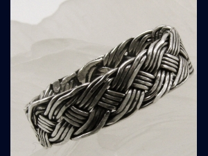Handwoven Sterling Silver Ring - any size