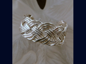 Hand-woven Braided Sterling Silver Toe Ring - Any Size