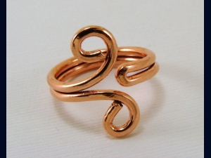 Copper Ring - Any Size, Also Available in Sterling, Copper, and Red Brass