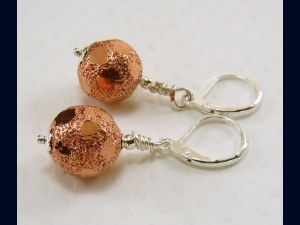 Mixed Metal Earrings (Copper and Sterling Silver)