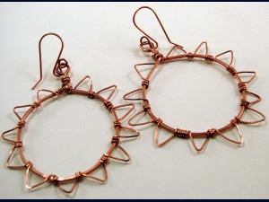 Copper Sun Earrings