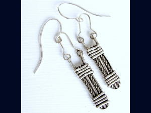 Sterling Silver Pattern  Wire wrapped Earrings