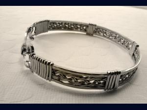 Sterling Silver Hand Woven Bracelet