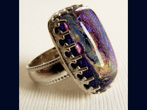 DIchroic Glass and Sterling Silver