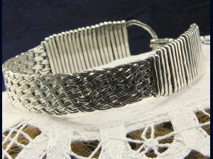 Handwoven Sterling Silver Bracelet
